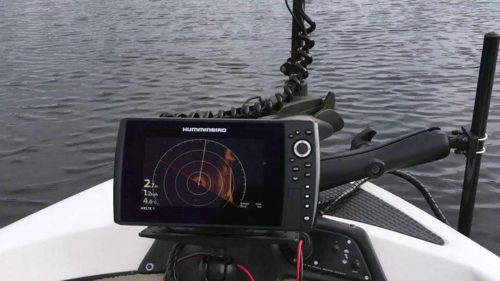 Humminbird Helix 9 On kayak