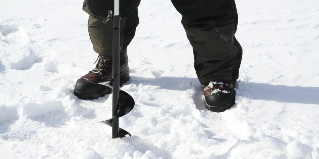 make a hole for ice fishing